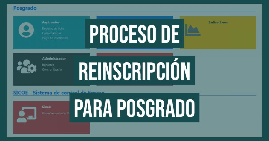Proceso de inscripción para posgrado FI